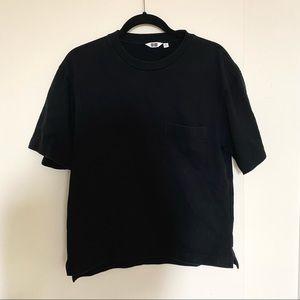 Uniqlo Structured Cotton Black Shirt